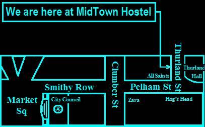 Midtown Hostel, Nottingham, England, England hotele i hostele
