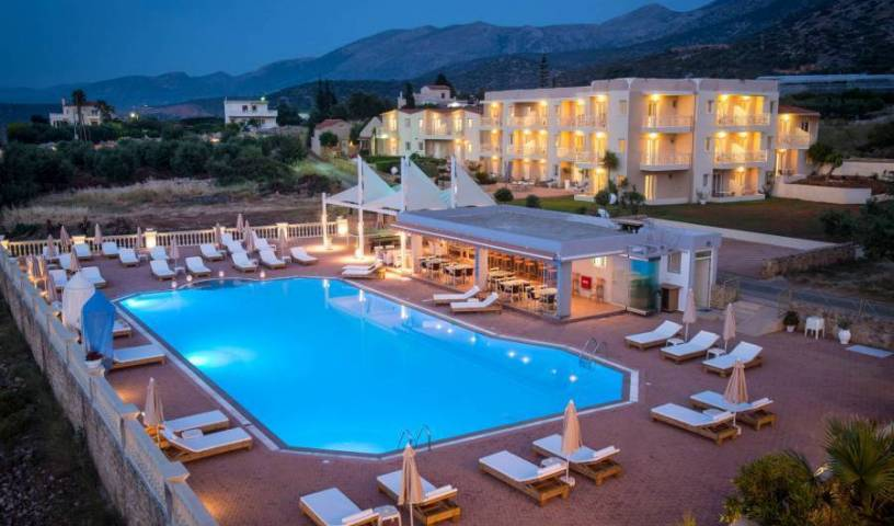 Notos Heights Hotel and Suites - Search for free rooms and guaranteed low rates in Malia, how to rent an apartment or aparthotel in Chersonissos, Greece 38 photos
