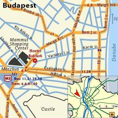 Hostel Bakfark, Budapest, Hungary, find cheap hotel deals and discounts in Budapest