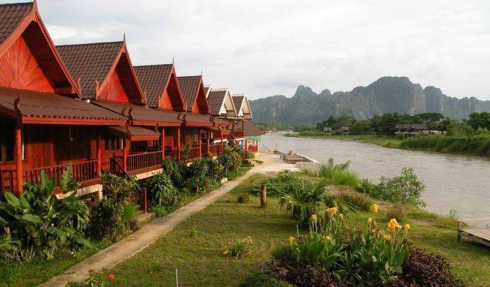 River View Bungalows - Search available rooms and beds for hostel and hotel reservations in Muang Vangviang, popular places to stay 8 photos