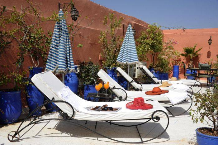 Riad Shaden, Marrakech, Morocco, backpackers gear and staying in hostels or budget hotels in Marrakech