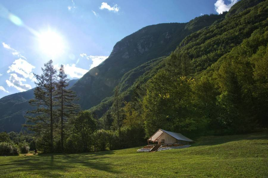 Eco Camp Canyon - Open Air Hostel Soca, Bovec, Slovenia, hotels for world travelers in Bovec