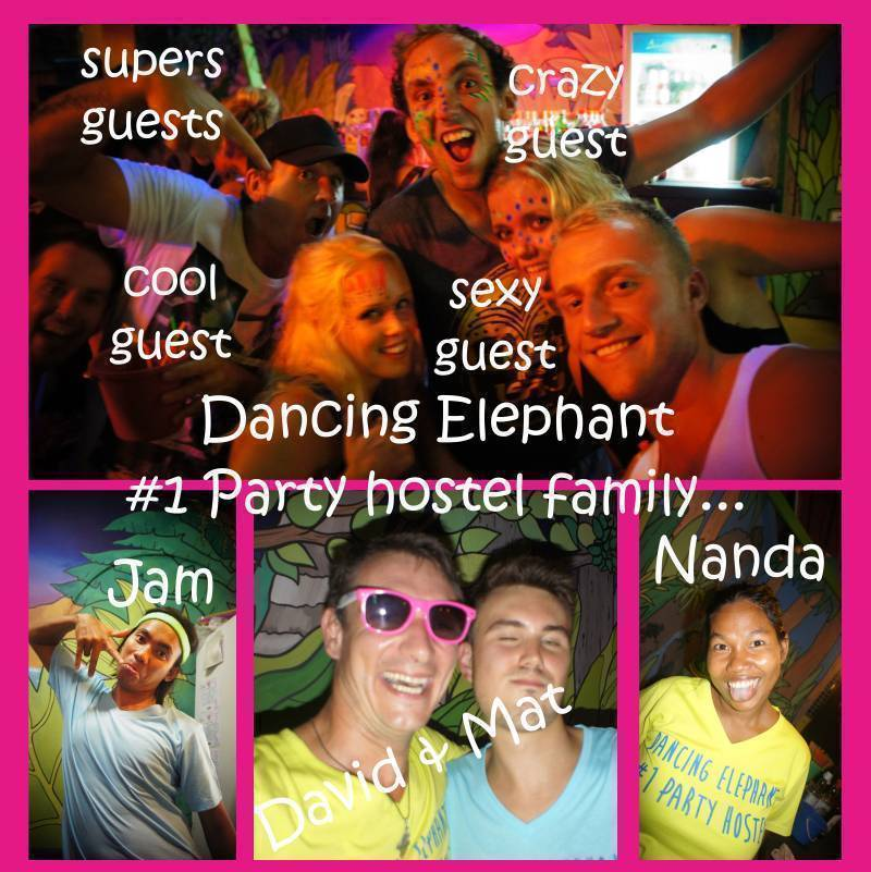 Dancing Elephant Hostel, Ko Phangan, Thailand, youth hostels and cheap hotels, stay close to what you want to see and do in Ko Phangan