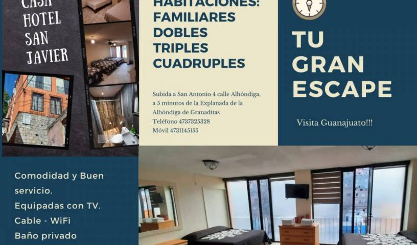 Casa Hotel San Javier - Search available rooms for hotel and hostel reservations in Guanajuato 10 photos