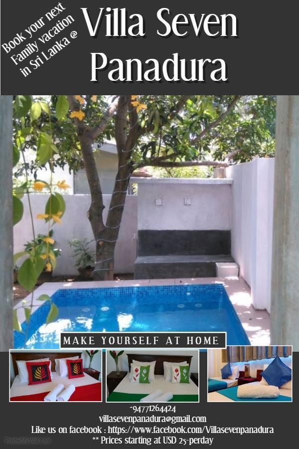 Villa Seven Panadura, Panadura, Sri Lanka, Sri Lanka hoteli in hostli